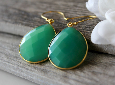 Medium,Emerald,Green,Chalcedony,Drop,Earrings,,Chrysoprase,Green,,Large,Dangle,,Drop,,Gold,Vermeil,,Huge,Teardrop,     Jewelry     Earrings     Dangle     gold vermeil     large teardrop     large green     green chrysoprase     drop earrings     bygerene     green chalcedony     emerald green dangle     huge green earrings     large pear drop     medium green     em