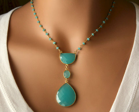 Long,Aqua,Chalcedony,Pendant,Necklace,,Blue,Green,,Bohemian,Pendant,,Statement,Style,Jewelry,Necklace,Stone,gold_vermeil,pendant_necklace,rosary_necklace,long__necklace,long_pendant,bohemian_style,bygerene,gypsy_style,Blue_Green,Bohemian_Pendant,Statement_Necklace,Long_necklace,Aqua_Chalcedony,gold filled,24k gold vermeil,Aqua Chalcedony