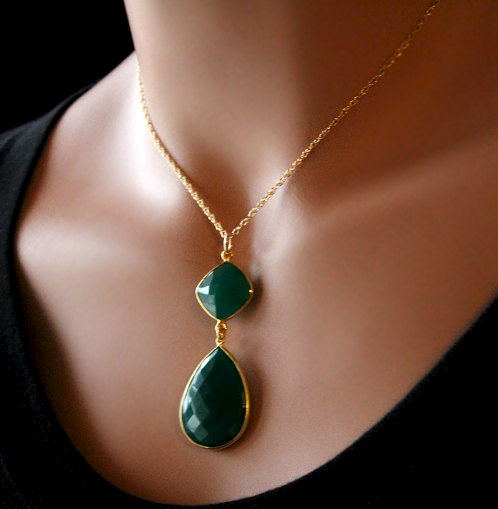Green onyx large pendant necklace emerald green green gemstone green onyx large pendant necklace emerald green green gemstone may birthstonegold aloadofball Choice Image