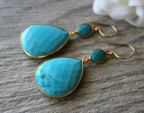 Large,Blue,Turquoise,Double,Drop,Earrings,,Genuine,Turquoise,,Stones,,Jewelry,,Gold,Vermeil,,Dangles,Jewelry,Earrings,Stone,sky_blue_stones,gold_vermeil,huge_turquoise,blue_turquoise,dangle_earrings,double_drop,genuine_turquoise,large_blue_stones,giant_turquoise,southwest,blue_gemstone,light_blue,TURQUOISE_JEWELRY,natural blue turquoise,gold vermeil