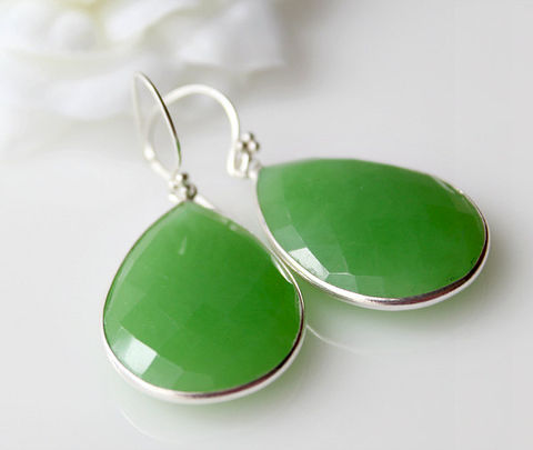 Large,Green,Chrysoprase,Sterling,Earrings,,Brazilian,Chrysoprase,,Gemstone,,925,Silver,,Teardrops,Jewelry,Earrings,Dangle,light_green_gemstone,green_healing_stone,large_teardrop,large_green,green_chrysoprase,drop_earrings,apple_green,bezel_dangle,bygerene,natural_green_stone,chakra_stone,925_sterling_silver,etsy_sale,Green Chrysoprase