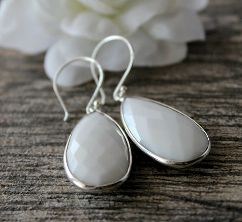 Long,White,Onyx,Sterling,Drop,Earrings,,Gemstone,Dangle,,925,Silver,,Jewelry,Earrings,Dangle,sterling_silver,double_drop,925_Sterling_Silver,White_Onyx_Jewelry,Long_earrings,White_Onyx,Drop_Earrings,White_Gemstone,white_Dangle,bygerene,white_stone,long_stone_earring,white_and_silver,925 Sterling Silver,White Onyx