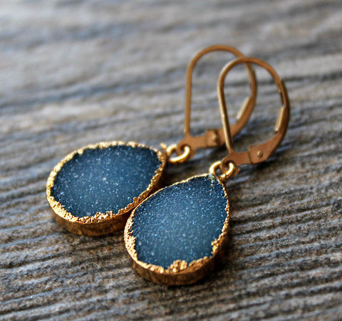 Bright,Cobalt,Blue,Druzy,Drop,Earrings,,Periwrinkle,Dangle,,Gold,Electroplated,,Large,Teardrops,,Natural,Druzy,,Jewelry,Earrings,Gold_Vermeil,Natural_Druzy,Druzy_Jewelry,Drop_Earrings,bygerene,large_blue_earrings,blue_druzy_teardrop,cobalt_blue_druzy,periwrinkle_blue,bright_cobalt_drop,blue_and_gold_dangle,geode_earrings,large_druzy_earrings,Gold electroplated,blue