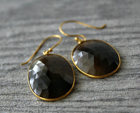 Large,Brown,Sapphire,Drop,Earrings,,Bezel,Dangle,,Natural,Oval,Stone,Earrings,Jewelry,brown_gemstone,genuine_gemstone,brown_bezel,dangle_earrings,bygerene,chocolate_gemstone,smokey_jewelry,large_teardrops,brown_Sapphire,brown_oval_earrings,brown_stone_dangles,large_brown_earrings,oversized_earrings,gold plated,gold filled