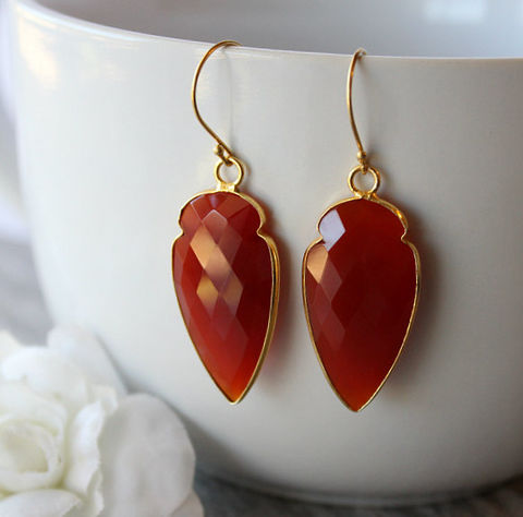 Arrow,Red,Carnelian,Drop,Earrings,,Burnt,Dangle,,Gemstone,,Jewelry,,Dagger,Earrings,Jewelry,Dangle,drop_earrings,red_carnelian,red_gemstone,burnt_red,long_red_dangles,carnelian_jewelry,red_earrings,deep_red_stone,burnt_red_dangle,24k_gold_vermeil,genuine_carnelian,arrow_head,valentine_sale,24k Gold Vermeil,Red Carnelian