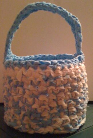 Crocheted,Easter,Basket,crochet,accessories,easter_basket,children,basket,bucket,holiday,sheets,easter,blue,white,gift,blue_and_white,boy,cotton_sheets
