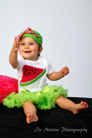 Crocheted,Fruit,on,Onesie,with,Matching,Hat,or,Headband,Crochet,Clothing,Shirt,watermelon,pink,girl,boy,infant,toddler,fruit,white,green,hat,onesie,birthday_gift,outfit,acrylic_yarn,ribbon