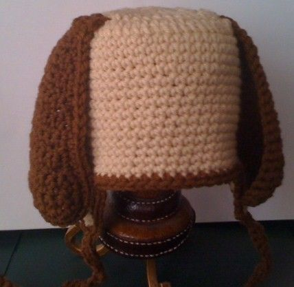 Crocheted,Puppy,Hat,Crochet,puppy,dog,hat,brown,earflaps,children,toddler,infant,adult,yarn,crochet_hat,acrylic_yarn