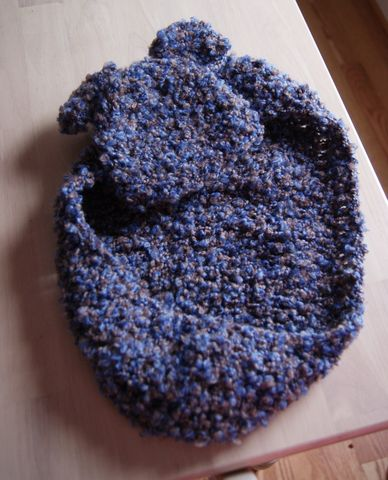 Blue,and,Brown,Cocoon,with,Matching,Hat,Crochet,Accessories,cocoon,blue,brown,hat,bowl,newborn,baby,children,handmade,egg,boy,newborn_bowl,newborn_cocoon,acrylic_yarn
