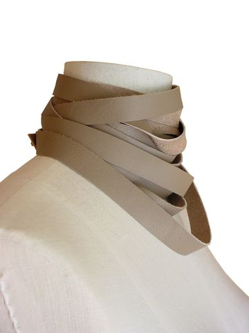 Wrapping choker scarf, taupe - product images  of