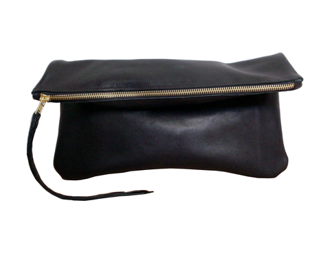 Leather,zippered,clutch,,black,goatskin,leater,clutch,leather clutch,zipper clutch,zipper bag,minimalist,black clutch,black leather clutch,leather bag,handmade leather bag,handmade,basic leather,foldover,fold over