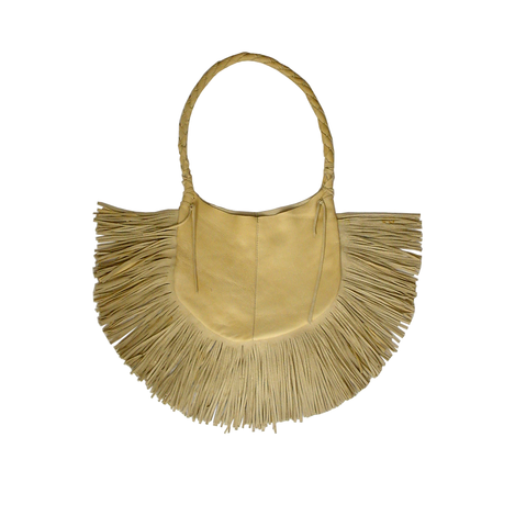 Frangia,leather,hobo,bag,,palomino,fringe,bag,handmade,leather bag,leather bag with fringe,leather fringe bag,handmade leather bag,yellow,fringed hobo bag