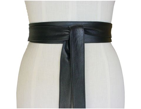 Ella,leather,belt,,black,lambskin,narrow obi,leather obi,black obi,obi belt,wrap belt,leather wrap belt,leather wrapping belt,leather tie belt,black leather belt,soft leather belt,lambskin belt,black lambskin belt