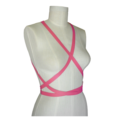 Body,harness,wrapping,strap,,pink,body harness,leather harness,harness fashion,fashion harness,silver harness,silver leather body harness,wedding harness,wedding dress belt,wedding dress harness,formal body harness
