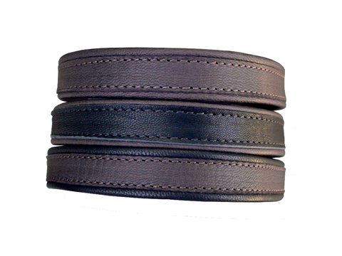 Leather choker for women or men, goatskin - product images  of