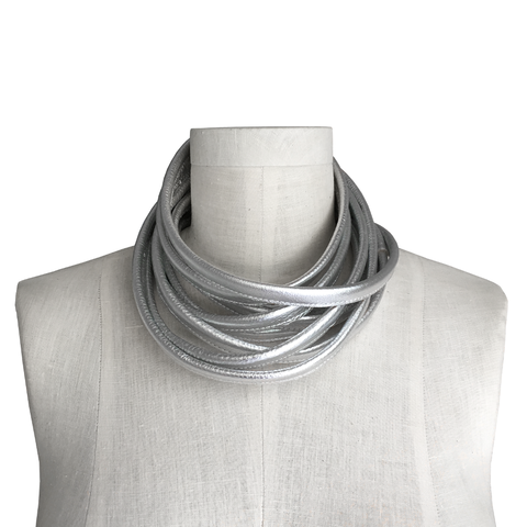 Wrapping,leather,choker,,silver,cowhide,leather choker,wrap choker,wrapping choker,leather scarf,honey tan,women leather,mens leather,wrapping scarf,wrap scarf,tan scarf,neutral leather,fashion accessories