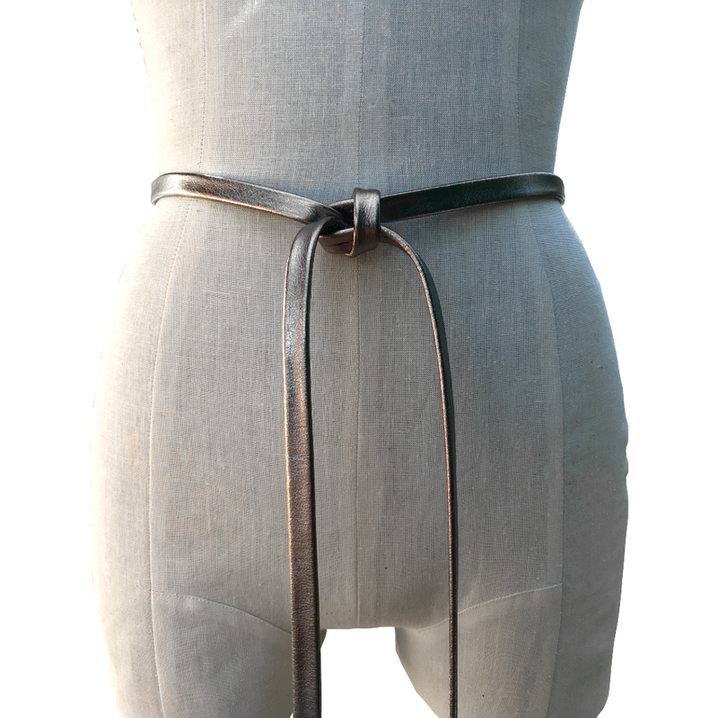 Niobium skinny belt, tarnished silver plonge - product images  of