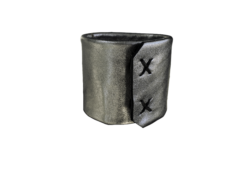 "Niobium 2"" bracelet cuff, tarnished silver - product images  of"