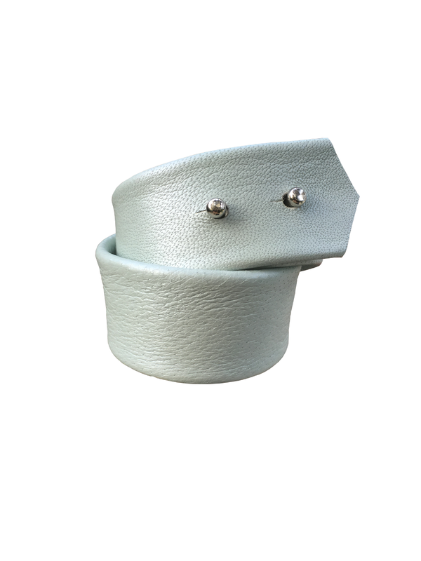 Double wrap lambskin bracelet, ice blue  - product images  of