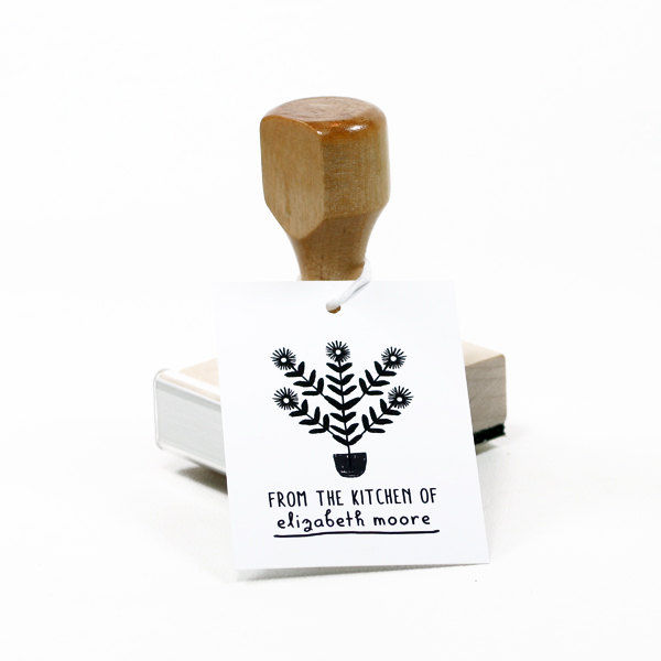 Plant Personalized Rubber Stamp - product image