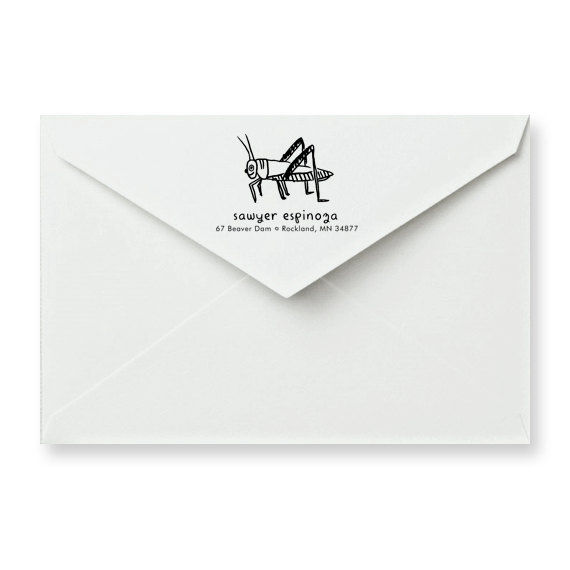 Grasshopper Address Stamp - product image