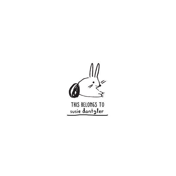 Bunny Personalized Rubber Stamp