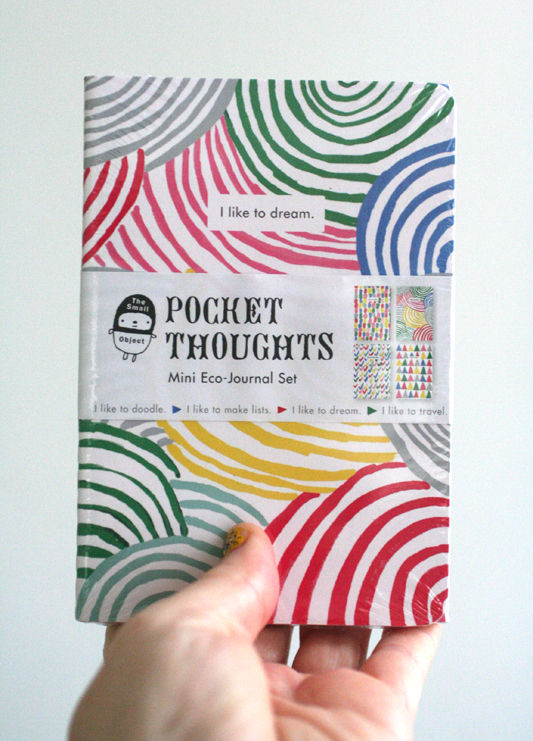 Pocket Thoughts Mini Eco-Journal Set - product images  of