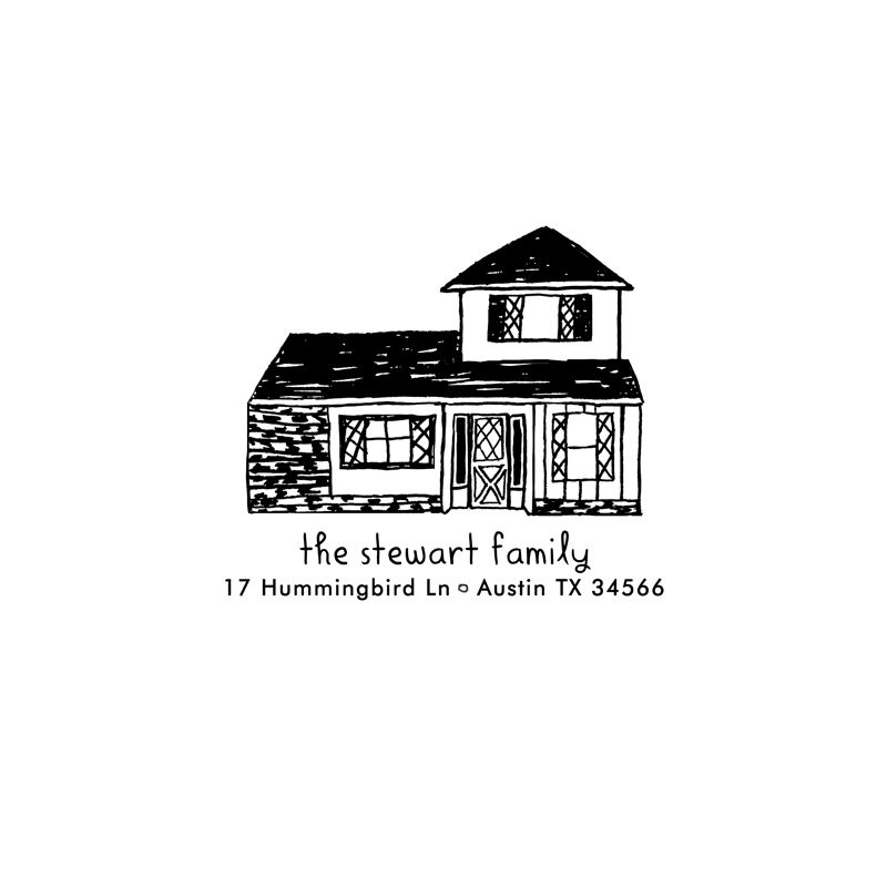 House Portrait Rubber Stamp - product images  of