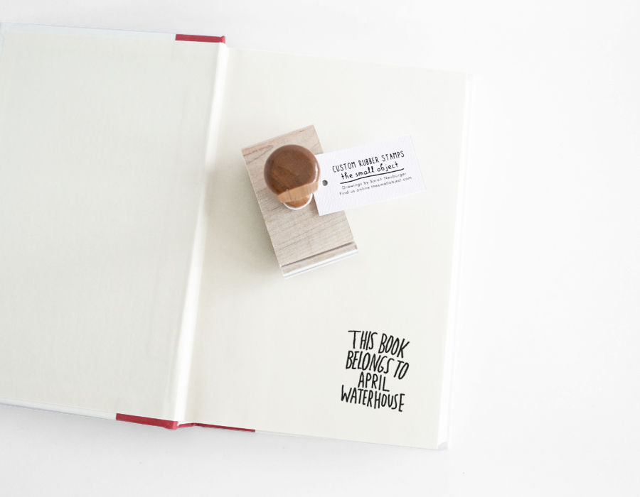 Hand Lettered Book Stamp - product images  of