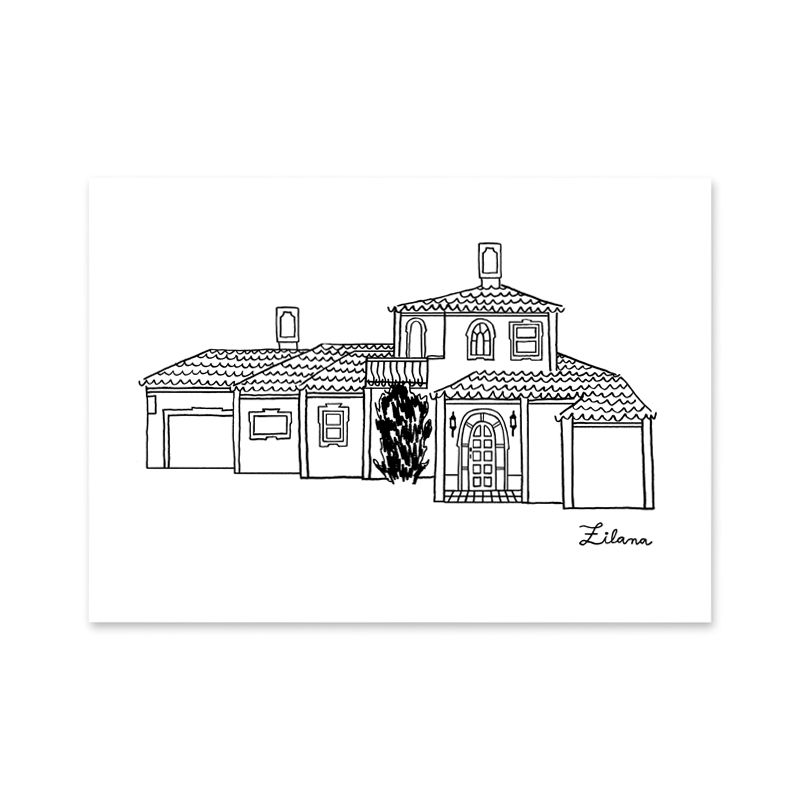 House Portrait Art Print - product image