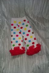 Polka,Dot,Leg,Warmers,with,Red,Chiffon