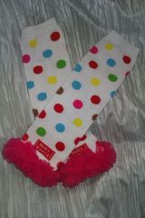 Polka,Dot,Leg,Warmers,with,Pink,Chiffon