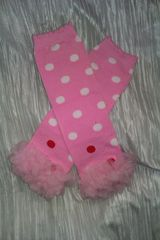 Pink,Leg,Warmers,w/White,and,Red,Polka,Dots,Chiffon