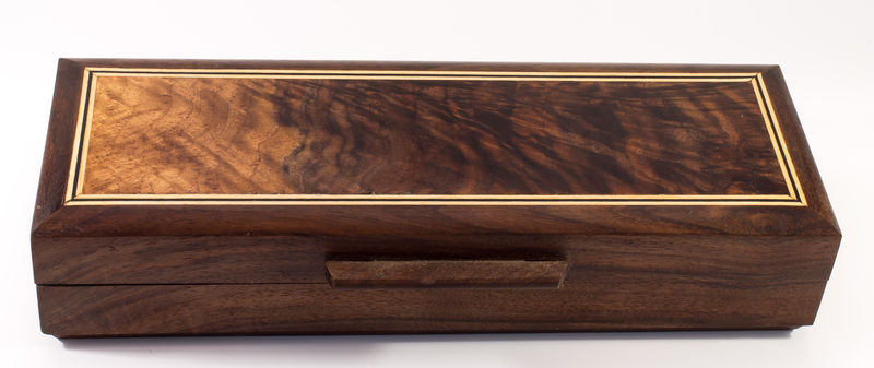 Wooden Double Pen Box - Black Walnut - product images  of