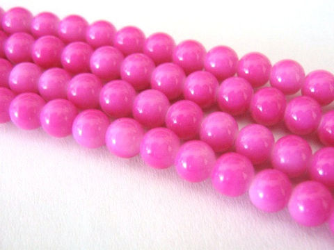 Pink,6mm,Round,Glass,Beads,Opaque,Fuschia,pink_glass_beads,pink_opaque_bead,6mm_round_bead,round_bead,pink_bead,opaque_round_bead,6mm_bead,fuschia_opaque_bead,beading_supplies,Beads2string,pink glass beads, 6mm round beads