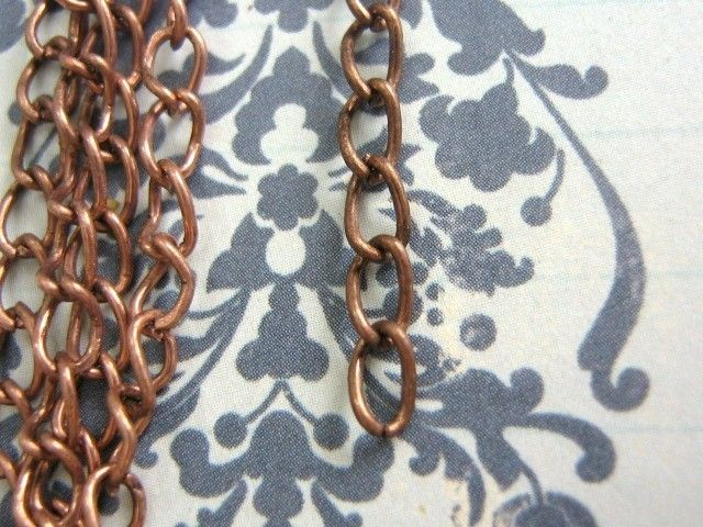 Twist Chain 5.5x3.4mm Antique Copper Finish 6 Feet - product images  of