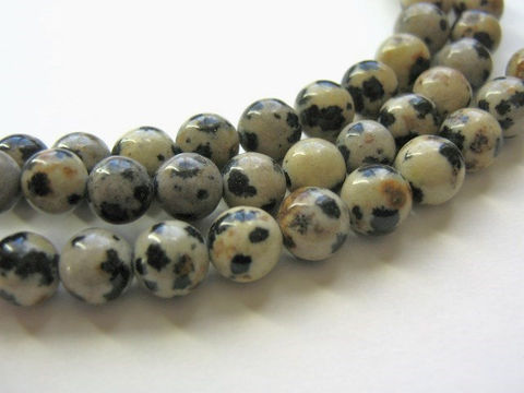 Dalmation,Jasper,Beads,6mm,Round,Gemstone,Bead,jasper_beads,black_and_cream_beads,round_jasper_beads,dalmation_jasper,round_gemstone,round_beads,6mm_dalmation_jasper,jewelry_making,6mm_beads,bead store, Beads2string, bead supplies, craft supplies, dalmation jasper bead