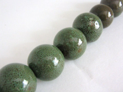 Honey,Green,Porcelain,Beads,22mm,Round,Ceramic beads,porcelain beads,22mm round porcelain beads,round porcelain beads,large ceramic beads,pottery beads,Beads2string,green porcelain beads