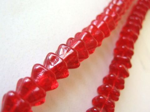 Red,Transparent,8x6mm,Tulip,Bell,Flowers,Czech,Glass,Beads,Bead,glass_flowers,flower_beads,red_glass_flower,6x8mm,czech_flower_beads,czech_glass_beads,glass_beads,red_glass_beads,red_flowers,transparent_red,red_beads,craft_supplies,ship_international