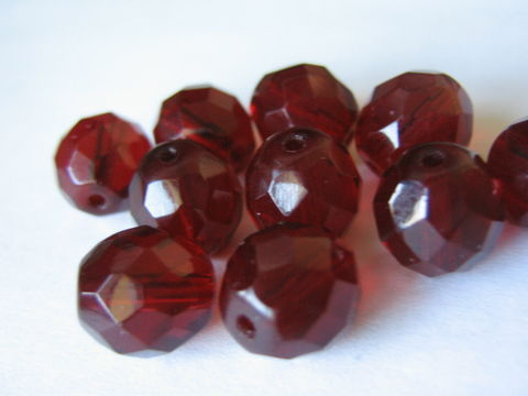 Garnet,Red,8mm,Faceted,Round,Czech,Glass,Beads,Fire,Polished,czech beads, transparent red beads, red beads, round beads, faceted round beads, 8mm faceted round beads, red round beads, czech round beads, 8mm beads, 8mm round beads, red glass beads, glass beads, Beads2string, craft supplies,