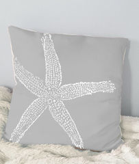 Starfish,Throw,Pillows,(large,starfish)-,16x16in,Housewares,Pillow,Novelty,coral,sand,beach_house,beach_house_living,beach_chik_designs,starfish,starfish_pillow,starfish_throw,coral_starfish,green_starfish,sand_starfish