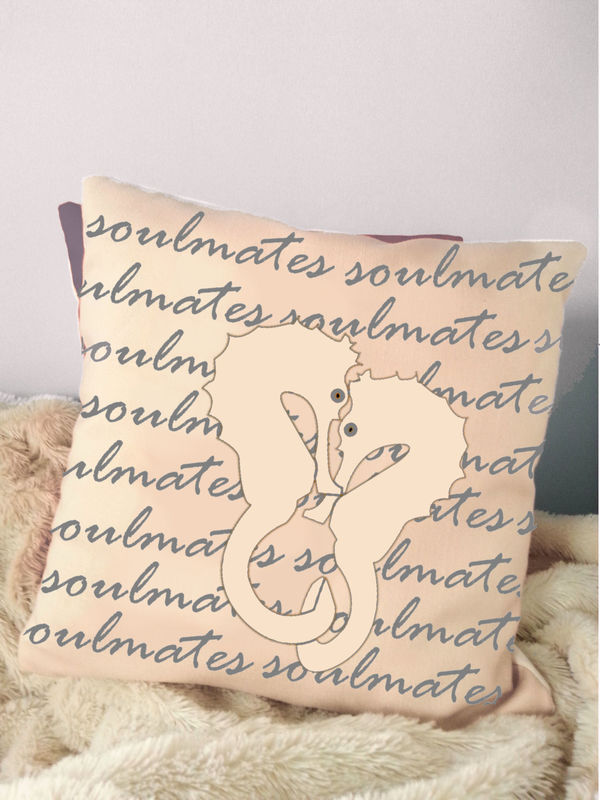 Soulmates Seashorse Pillow - product images  of