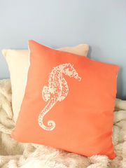 Seahorse Throw Pillows- 18x18in - product images 3 of 5