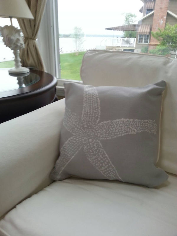 Starfish Throw Pillows (large starfish)- 16x16in - product images  of