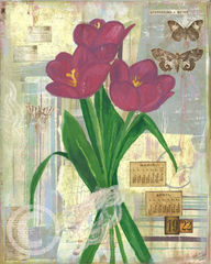 Hope,Springs,Eternal-,16x20,Print,of,Mixed,Media,Art,Printmaking,tulips,spring,hope,vintage,romantic,hope_springs_eternal,mixed_media,new_jersey,kimberly_vowteras,kim_vowteras,beach_chik,jersey_shore