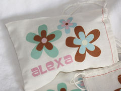 Personalized,Flower,Favor,Bags,Bags_and_Purses,Pouch,Drawstring,favor_bags,flowers,birthday_party,etsynj_team,personalized,girls_birthday,custom_favor_bags