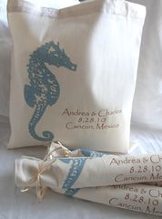 Destination,Wedding,Totes-,Seahorse,weddings,wedding_favor,destinationwedding,tote_bags,totes,seahorse,beach_bride,barefoot_bride,shore,beach_wedding,etsynj_team,hotel_guest,hotel_welcome