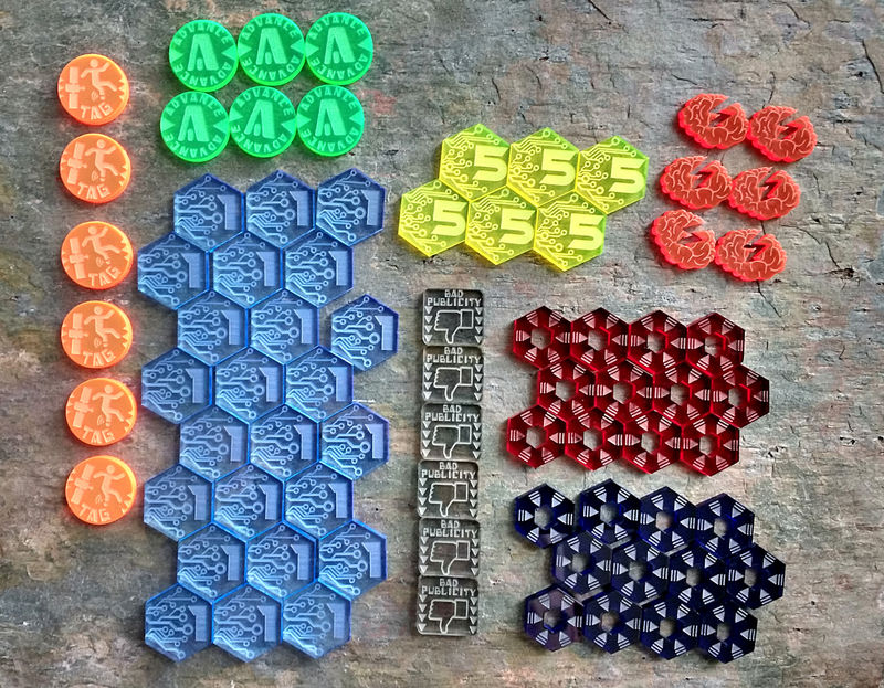 Netrunner token set (78 Tokens) - product images  of