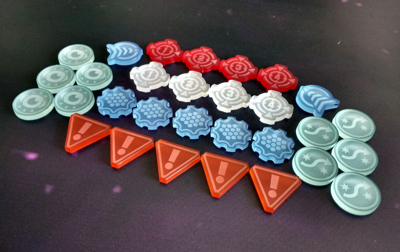 X-Wing laser cut frosted token starter set (30 tokens) - product images  of