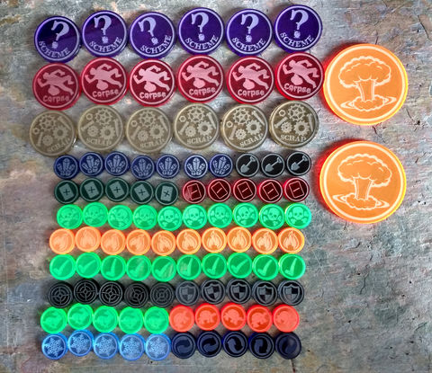 Steam,&,Magic,Bundle,Set,Malifaux, scheme markers, tomes, rams, crows, masks